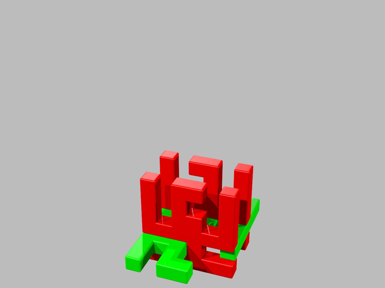 6 Cube Board Burr
